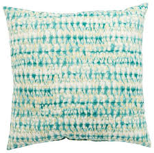 Aqua White Abstract Perron Fresco Indoor Outdoor Throw Pillow Design By Jaipur