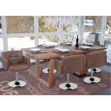 details zu 6x esszimmerstuhl orlando stuhl drehstuhl wildlederimitat chrom vintage braun