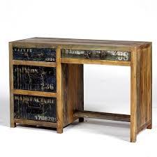 bureau bois recyclé bureau 3 tiroirs osiris pas cher en vente chez origin s meubles
