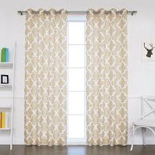 Kmart Window Curtain Rods by Amazon Com Best Home Fashion Oxford Basketweave Moroccan Print