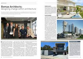 100 Architecture Design Magazine Bomax Architects News