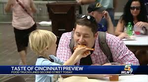 100 Food Trucks In Cincinnati Trucks Line Up Downtown For Taste Of Preview YouTube