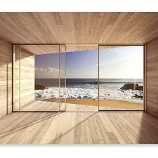 murando fototapete meer fenster 350x256 cm vlies tapeten wandtapete moderne wanddeko design wand dekoration wohnzimmer schlafzimmer büro flur see