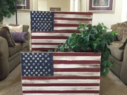 Rustic Distressed Wood Flag Fourth Of July 4th Americana Sign American Stars And Stripes Home