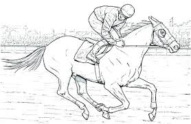 Horse Jumping Coloring Pages Printable Realistic Free