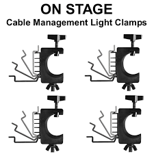 On Stage LTA4880 4-Pack Cable Management Non Marring Light Clamps $10  Instant Coupon Use Promo Code: $10-Off