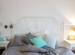 unser neues schlafzimmer in grau weiß türkis und kupfer