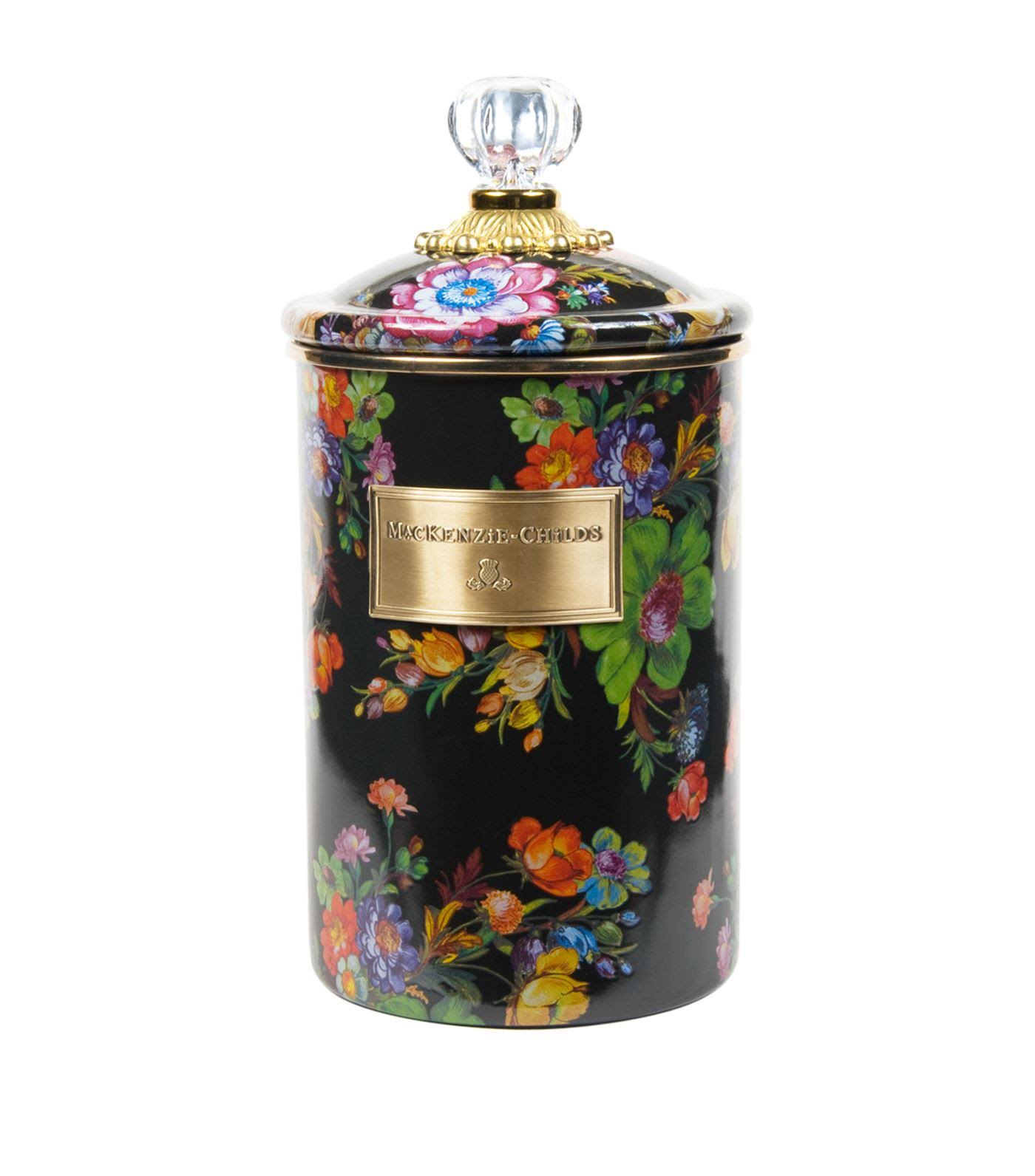 MacKenzie-Childs Flower Market Canister, Large, Black