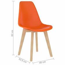 esszimmerstühle 4 stk orange kunststoff