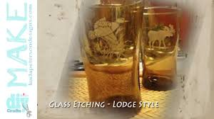 Rustic Lodge Etched Glass Drinking Glasses
