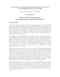 PDF Movies Mind And Meaning Studying