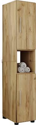 vcm hochschrank badschrank standschrank badregal badmöbel schrank flandu 160 x 31 x 30 cm badezimmer regal holz badmöbel hochschrank flandu farbe