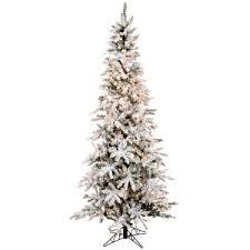 Artificial Flocked Christmas Trees Canada Tree Reviews Slim