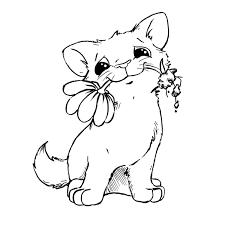 Kitten With Flower Baby Quilts Dibujos Para Pintar