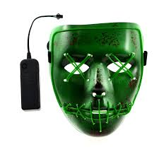 Halloween Purge 2 Mask by The Purge El Wire Dj Party Festival Halloween Costume Neon