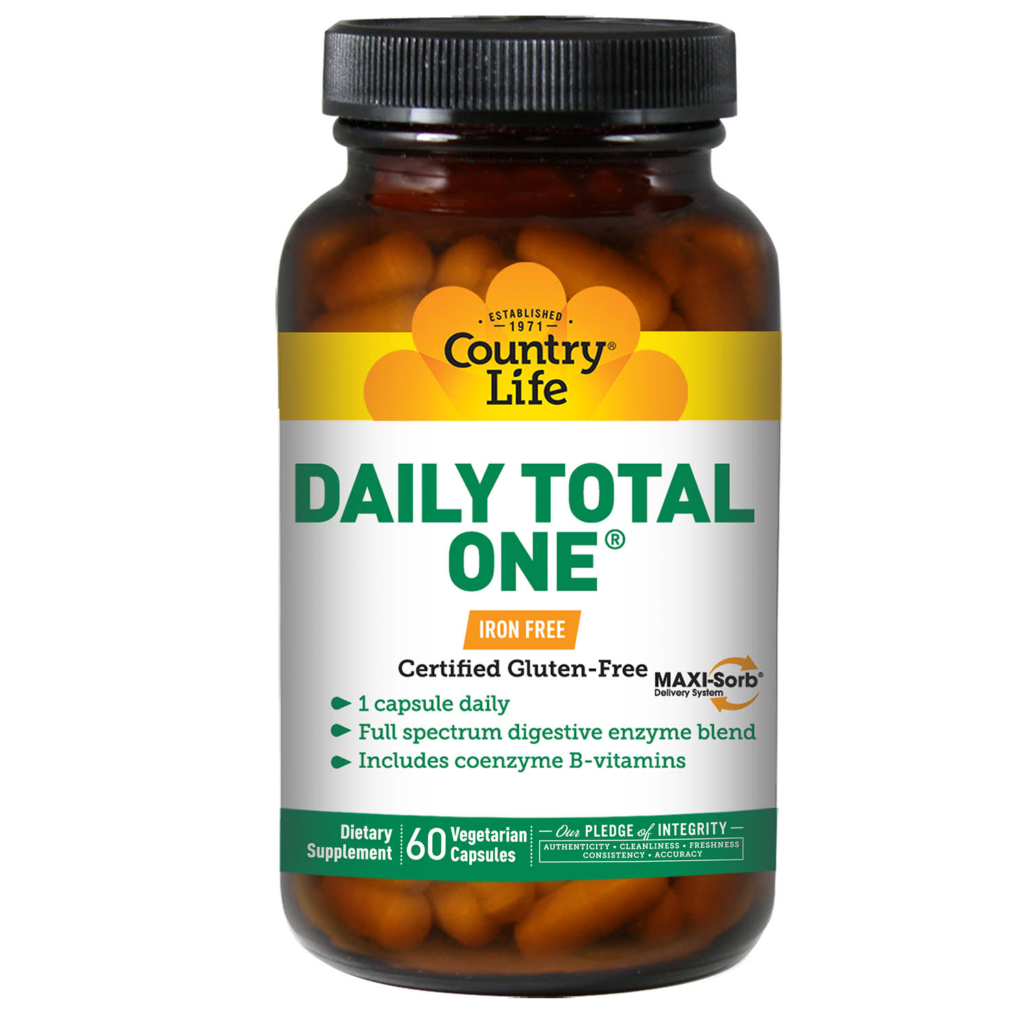 Country Life Daily Total One - 60 Vegetarian Capsules