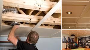 plafond a caisson suspendu vidéo un plafond suspendu rénovation bricolage