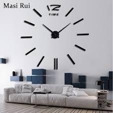2018 New Home Decor Big Wall Clock Modern Design Living Room Quartz Metal Decorative Designer Clocks