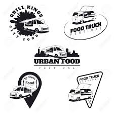 100 Truck Emblems Set Of Food Icons And Badges Urban Street Food
