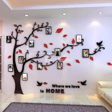 44 Photo Frame Tree Country Style Acrylic 3D Waterproof 11 Frames Wall Stickers
