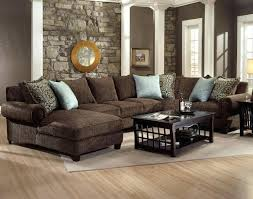 stupendous brown sectional living room brown leather sectional