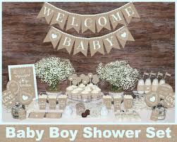 Rustic Baby Shower Decorations Girl Woodland Burlap And Lace
