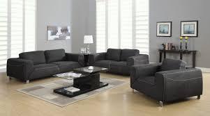 silver living room set grey light grey contrast micro suede 3