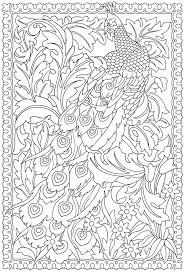 Printable Peacock Coloring Pages For Adults