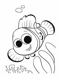 Nemo The Little And Brave Clown Fish In Finding Coloring Page