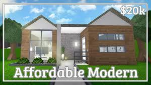 100 Cheap Modern House Bloxburg Affordable Speedbuild YouTube