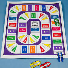 One Sheet Racetrack Game Board
