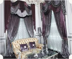 Grey And Purple Living Room Curtains purple grey roman stick rod silver grey curtains for restaurant