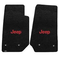Lloyd ULTIMAT Jeep Logo Carpet Floor Mats Black