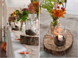 Image Of Rustic Wedding Reception Table Decorations