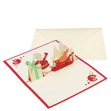Amazoncom 15 X 10cm 3D Christmas Themed Pop Up Cards Merry