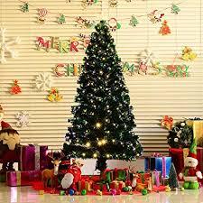 HomCom 6 Artificial Pre Lit White LED Fiber Optics Christmas Tree W