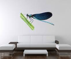 3d wandtattoo libelle blau türkis grünes blatt wand aufkleber deko wandbild wandsticker a3d186