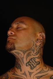 This Bad Ass Maori Neck Tattoo