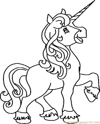 Kids Unicorn Coloring Pages