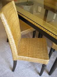 Pier One Dining Table Set by Pier 1 Wicker With Glass Top Dining Table Set W 6 Chairs Moving