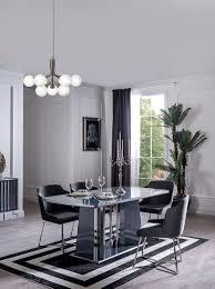 casa padrino luxus esstisch blau silber 182 x 92 x h 77 cm esszimmertisch küchentisch edle esszimmer möbel