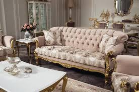 casa padrino luxus barock wohnzimmer sofa rosa gold 220 x 82 x h 95 cm massivholz sofa mit elegantem muster und dekorativen kissen wohnzimmer