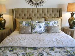 Skyline Button Tufted Headboard by Roma Tufted Wingback Headboard Oyster Full Queen Bed With Nailhead