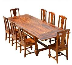 Solid Wood Dining Table Sets Design Inspirations Inside