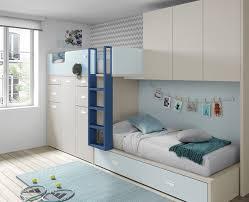 chambre enfant avec lit superposé et armoire meubles ros