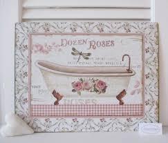blech bild schild le bain badewanne bad badezimmer landhaus shabby chic vintage antik