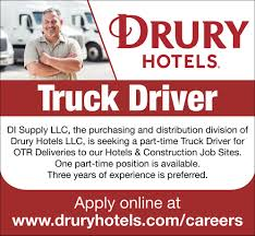 Truck Driver, Drury Hotels, Cape Girardeau, MO Online Driver Application Truck Drivers Wanted Owner Operators Nnt Transportation Hiring Cdl Drivers Driver Jobs Local Job Listings Drive Jb Hunt Available A With Commodore Group Driving Jobs Ranked As One Of The Toughest To Fill Find Your Perfect Driving On Big Rig No Truck Isnt Most Common Job In Your State Marketwatch For Veterans Get Hired Today For Jrc Flatbed Asda Home Shopping Tg Stegall Trucking Co Plenty On Open Road