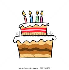 Birthday Cake a hand drawn vector illustration of a birthday cake with colorful candles on
