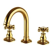 Polished Brass Bathroom Faucets Widespread by Gold Bathroom Faucet Ebay