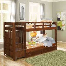 twin over twin bunk beds with stairs decofurnish